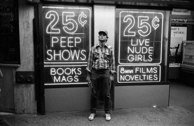 Bill Murray in Times Square, 1979.