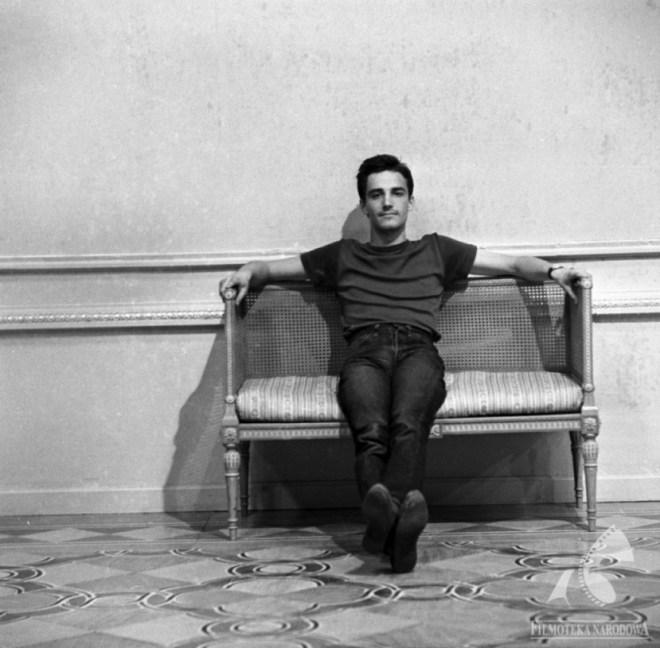 A young Andrzej Żuławski on the set of Andrzej Wajda's The Ashes (Popioły, 1965), where he served as assistant director.Photograph by Franciszek Kądziołka