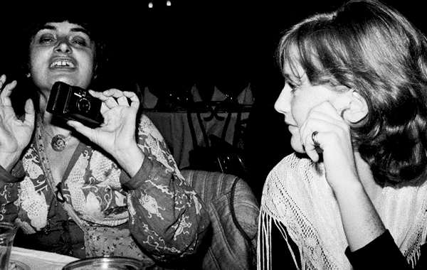Agnès Varda and Isabelle Huppert photographed by Caterine Milinaire at Studio 54, 1977-1