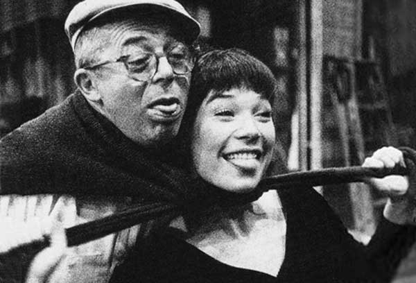 Director Billy Wilder and Shirley MacLaine on the set of The Apartment.