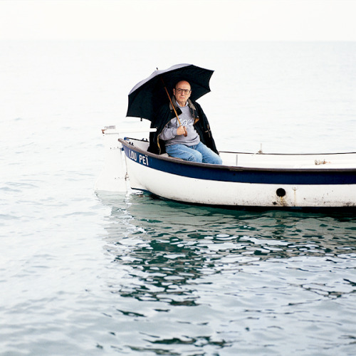 Theo Angelopoulos, photographed by Catherine Chabrol, 1993