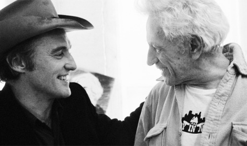 Dennis Hopper, Nicholas Ray and Wim Wenders photographed by Caterine Milinaire on the set of the film The American Friend, 1977-4