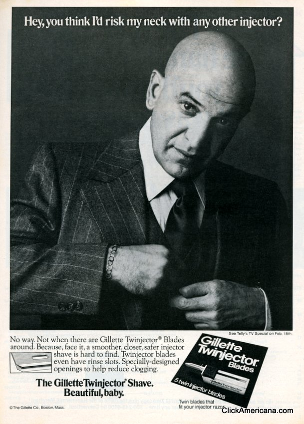 Telly Savalas for Gillette 1976 (2)