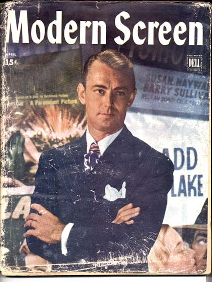 13TH_Alan Ladd on the cover of Modern Screen, April 1946