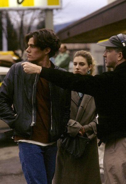 27TH_David Lynch directing Dana Ashbrook and Madchen Amick in Twin Peaks pilot