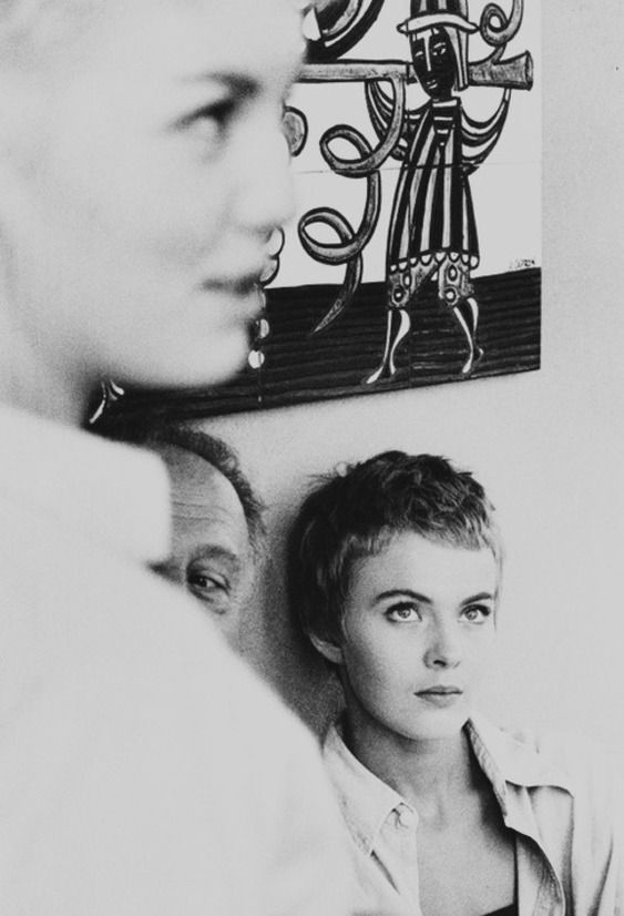 31st_Jean Seberg, in 1958 during the filming of Bonjour Tristesse directed by Otto Preminger.
