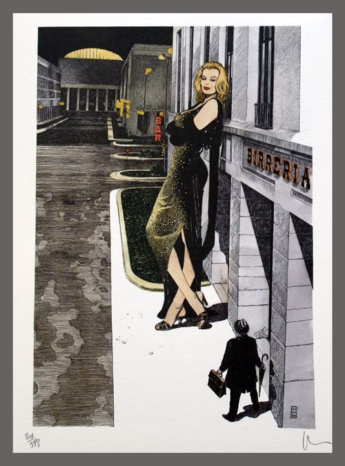 Boccaccio '70 (Fellini) (Limited Edition Print) (Signed) art by Manara
