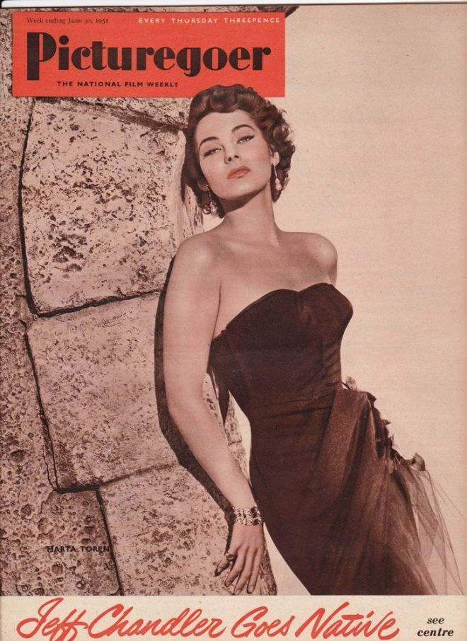 Marta Toren on the front cover of Picturregoer magazine, United Kingdom, June 30th 1951.