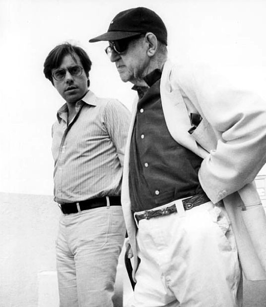 Peter Bogdanovich & John Ford on set of What's UP Doc