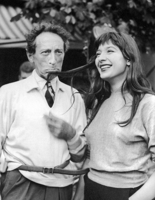 18th_Jean Cocteau and Juliette Gréco on the set of Orpheus.
