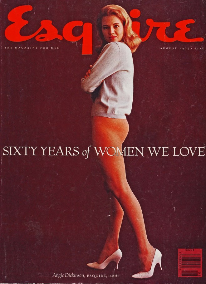 Frank Bez, Portrait of Angie Dickinson, 1966, Cover Esquire US - august 1993
