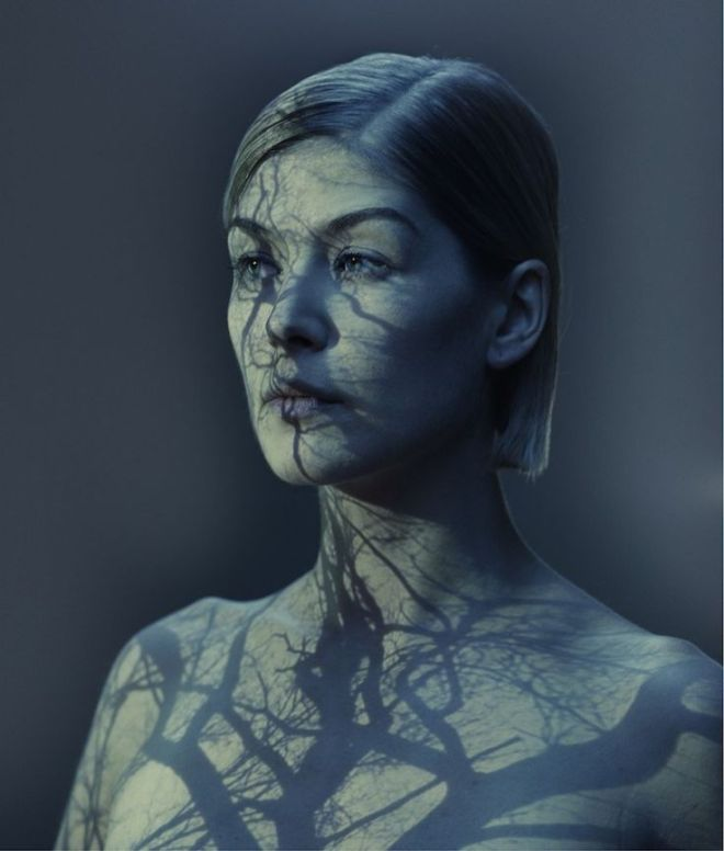 Rosamund Pike as photographed by Nadav Kander