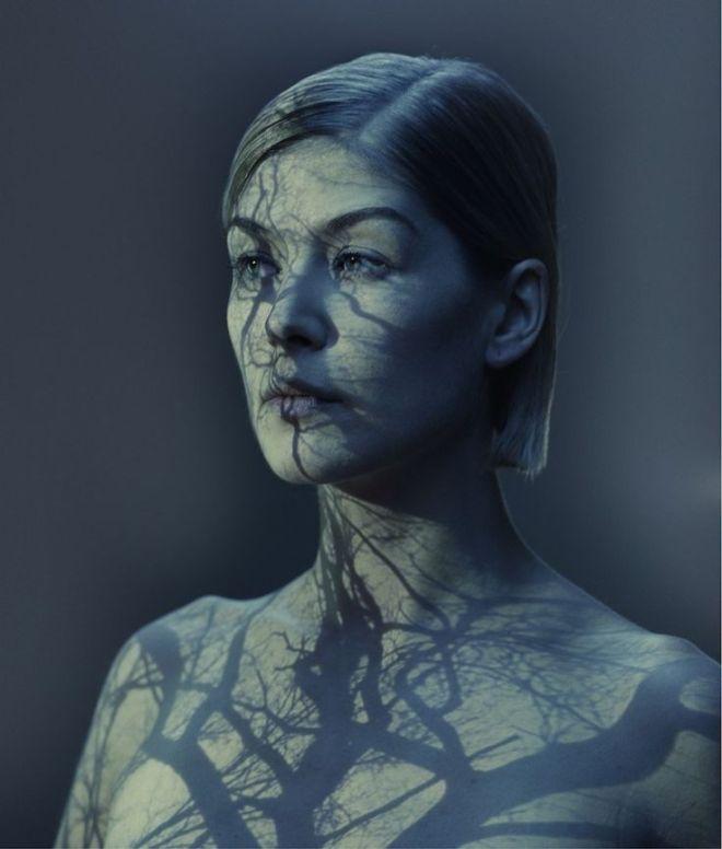 Rosamund Pike as photographed by Nadav Kander