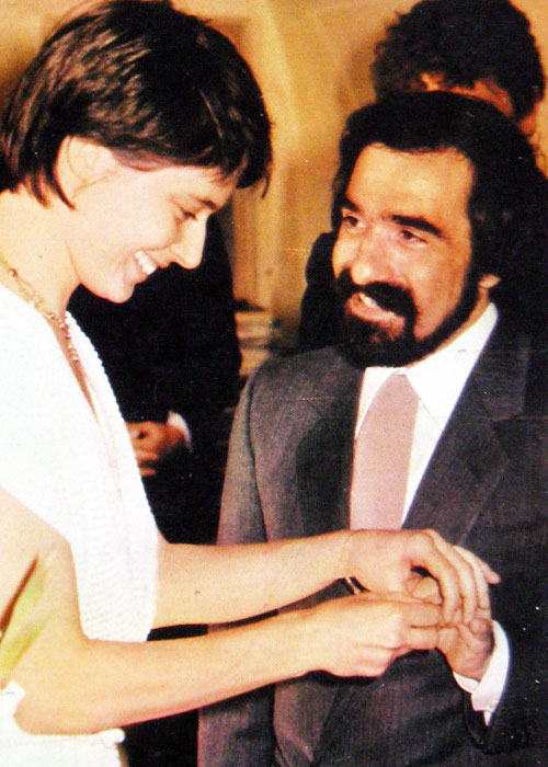 18th_Isabella Rossellini and Martin Scorsese on their wedding day, 1979
