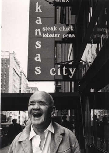 Jean Genet (novelist, poet, essayist, playwright, and political activist) at Max's Kansas City in NYC 1971 ©Thom Lafferty