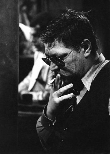 Rainer Werner Fassbinder during the filming of %22Querelle: A Film About Jean Genet's 'Querelle de Brest'%22