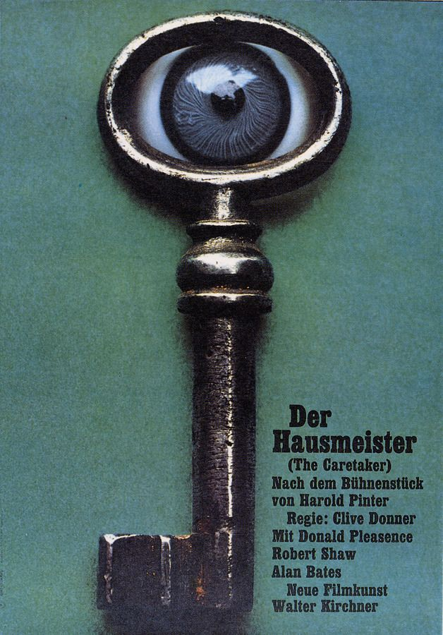 The Caretaker The Guest (Clive DonnCaer, 1963) German design by Hans Hillmann