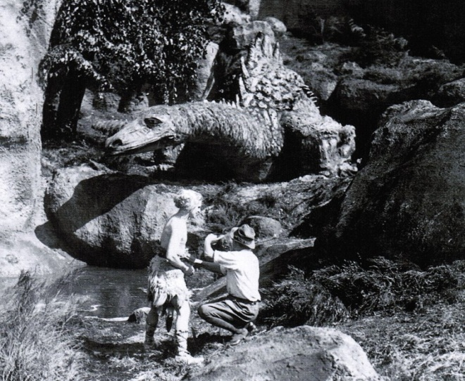 13th_Model for the dragon in Die Nibelungen (1924, dir. Fritz Lang) by set designer Erich Kettelhut; below, Paul Richter & Lang on the set of Die Nibelungen._2
