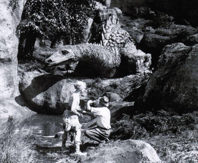 13th_Model for the dragon in Die Nibelungen (1924, dir. Fritz Lang) by set designer Erich Kettelhut; below, Paul Richter & Lang on the set of Die Nibelungen._2