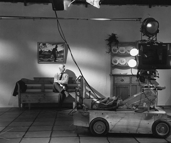 14th_Carl Th. Dreyer behind the scenes of his final film, Gertrud (1964).