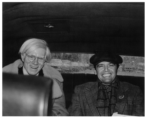 1st_Andy Warhol and Jack Nicholson. Photo by Pat Hackett