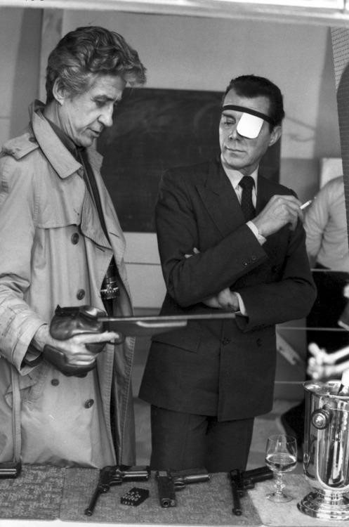 "3RD_Alain Resnais & Dirk Bogarde on the set of ""Providence"""