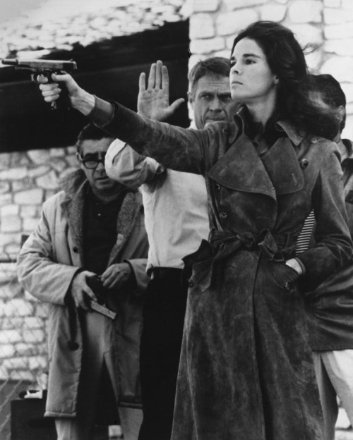 5TH_Ali MacGraw & Steve McQueen on the set of The Getaway (1972, dir. Sam Peckinpah)