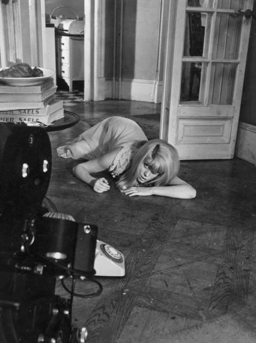 16th_Catherine Deneuve during the filming of Repulsion (1965, dir. Roman Polanski