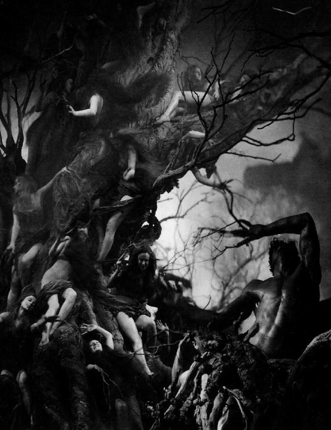 27th_Dante's Inferno 7th circle 1935, Harry Lachman, spencer tracy is shown a vision of hel if he does not change his ways. souls of suicides into trees eaten by harpies