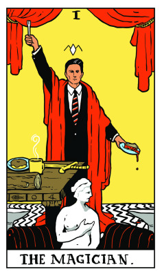 TWIN PEAKS TAROT illustration by Benjamin Mackey-2
