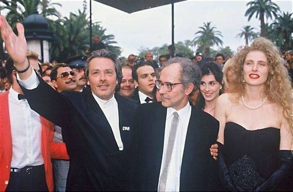 10th_Alain Delon and Jean-Luc Godard._Cannes FF 1990
