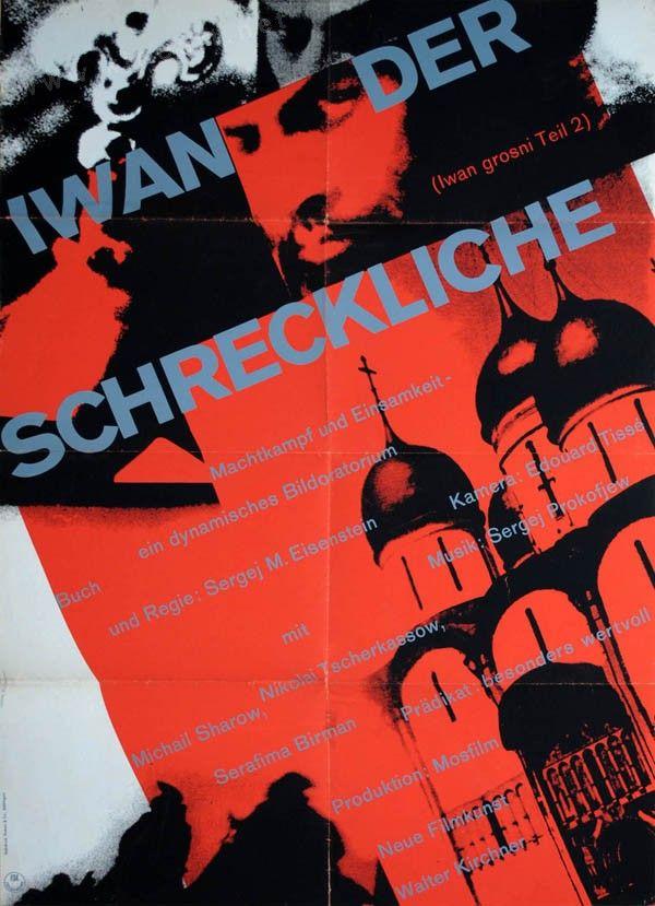 1ST_Ivan the Terrible, Prt II (Sergei Eisenstein, 1958) German design by Isolde Monson-Baumgart