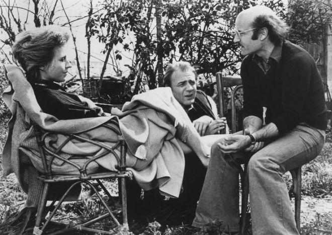 21st_Hanna Schygulla, Bruno Ganz, director Volker Schlondorff on the set of %22Circle of Deceit%22, 1981