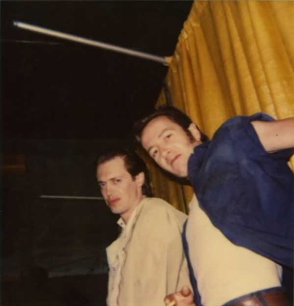 31_Steve Buscemi and Joe Strummer on the set of Mystery Train..jpg