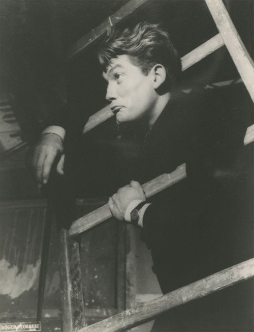 "8th_Jean Marais photographed by Roger Corbeau on the set of ""Les Parents terribles"""