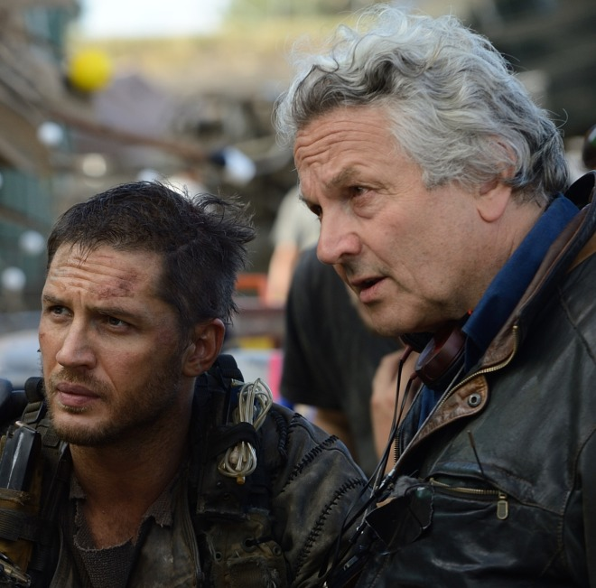 "15_Tom Hardy & George Miller on the set of ""Mad Max Fury Road"".jpg"