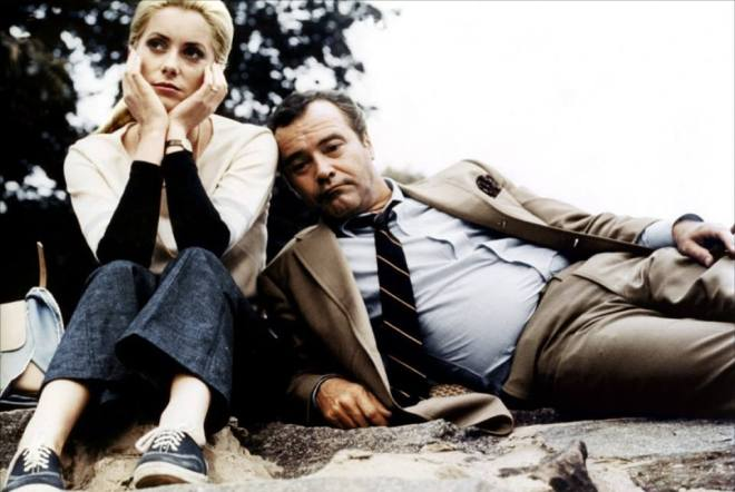 24_Catherine Deneuve and Jack Lemmon on the set of The April Fools directed by Stuart Rosenberg, 1968.