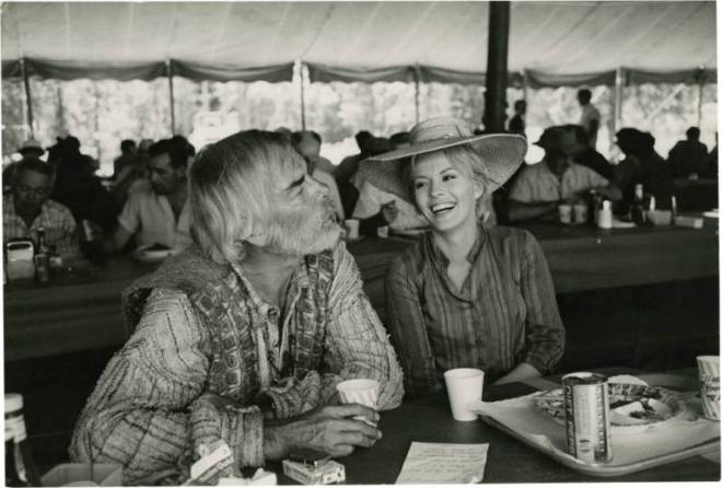 "25_Lee Marvin and Jean Seberg on the set of ""Paint Your Wagon""..jpg"