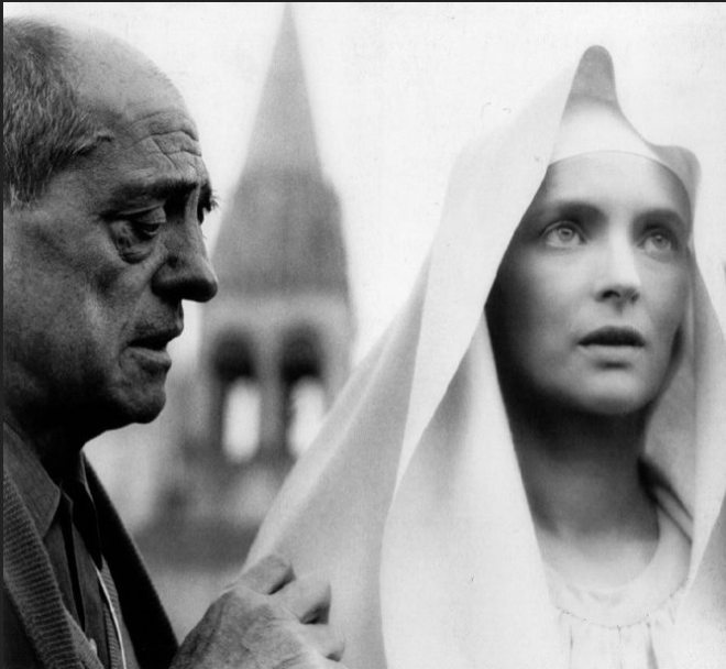 2_Luis Buñuel and Edith Scob on the set of La Voie Lactée, 1969..jpg