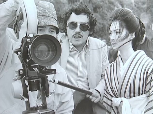 4_Meiko Kaji and director Toshiya Fujita behind the scenes on Lady Snowblood 2- Love Song Of Vengeance.jpg
