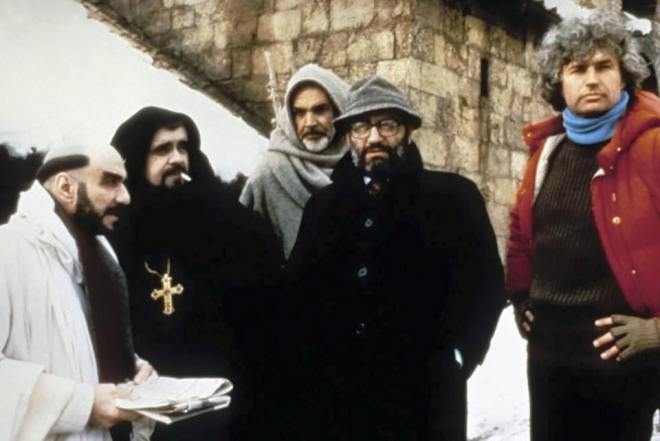 on set of the name of the rose.jpg