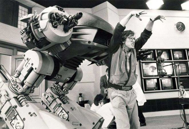 12_Paul Verhoeven with the ED-209 on the set of RoboCop.jpg
