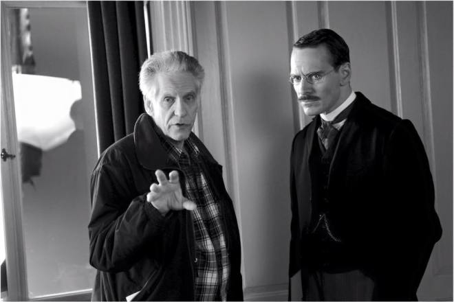 21_Michael Fassbender and David Cronenberg on the set of A Dangerous Method, Photo by Liam Daniel