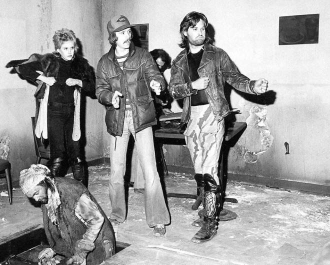 17_Season Hubley, John Carpenter, Kurt Russell and Jeff Sillifant on the set of Escape from New York..jpg