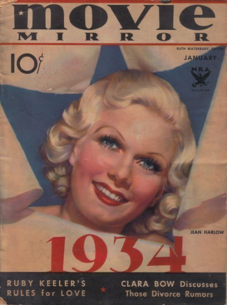 5_Jean Harlow on the cover of Movie Mirror magazine, USA, January 1934..jpg