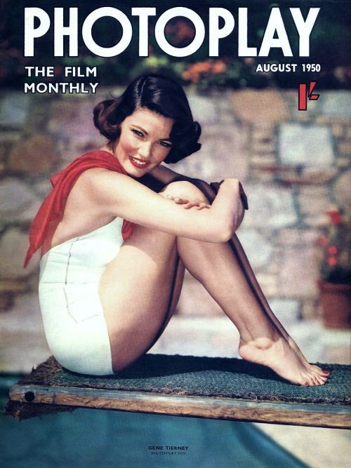 11_Gene Tierney on the cover of Photoplay magazine, United Kingdom, August 1950..jpg