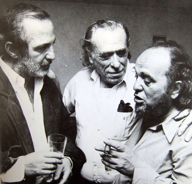 17_Charles Bukowski and Ben Gazzara talk to Marco Ferreri about his film adaptation of Bukowski's book Tales of Ordinary Madness (1981).jpg