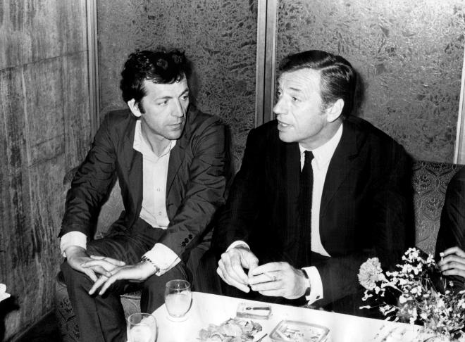 21_Costa Gavras with actor Yves Montand at the 22nd Cannes Film Festival (1969).png