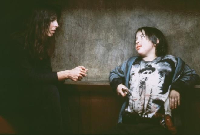 31_Kathryn Bigelow and Joshua John Miller on-set of Near Dark (1987).jpg