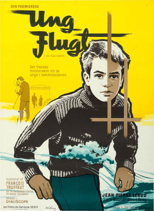 13_Danish poster for THE 400 BLOWS (François Truffaut, France, 1959) - Designed by Benny Stilling.jpg